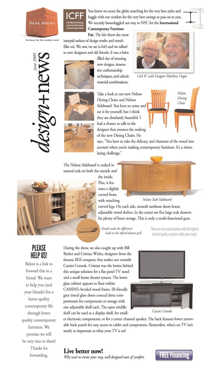 Dane Decor Design News. By Macy Advertising On April 17, 2013